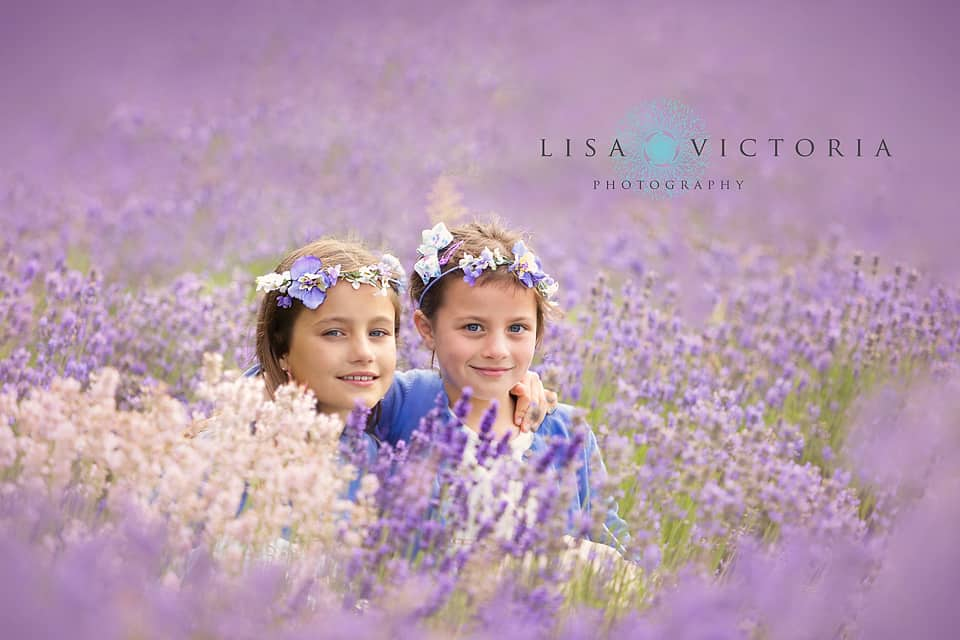 photoshoot in lavender field
