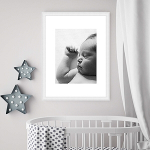 framed newborn photographic print