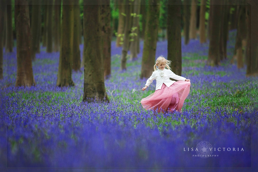 bluebell spring photoshoot bristol