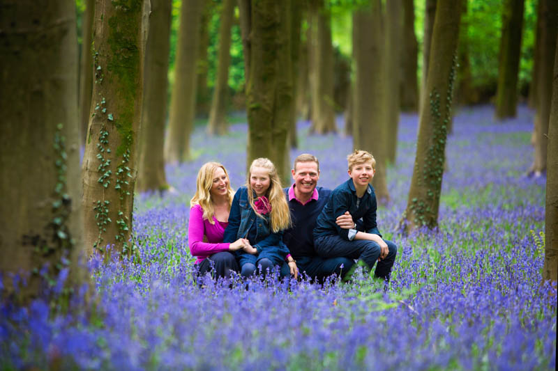 family photographer bluebells