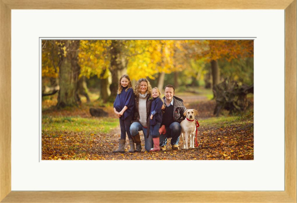 framed photograph family autumn photoshoot bristol