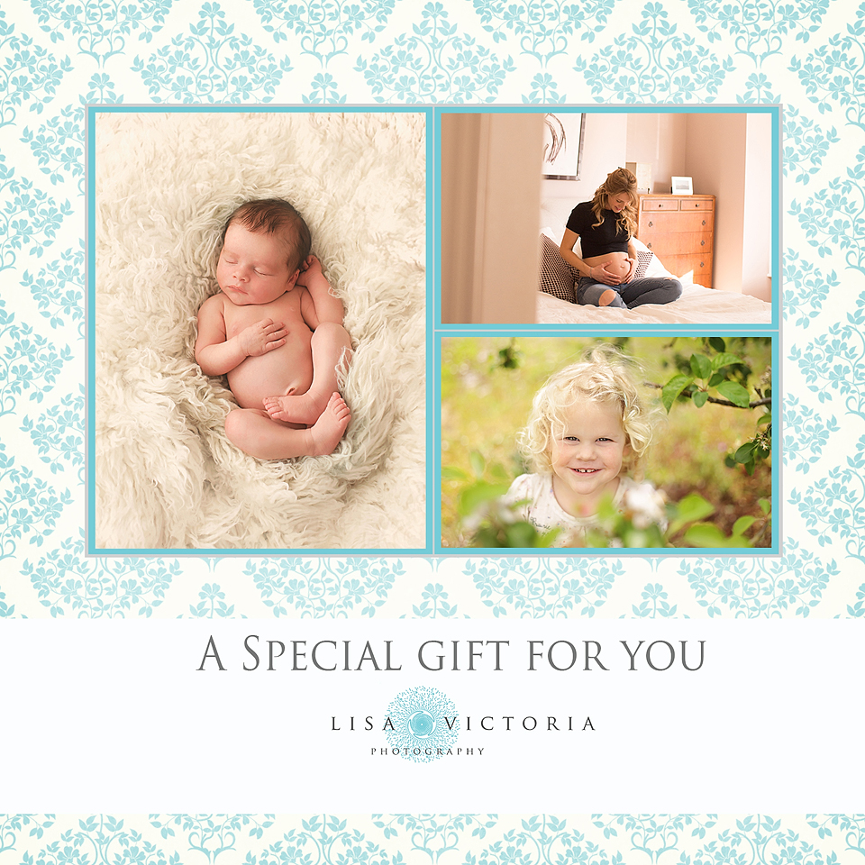 family baby photoshoot gift voucher