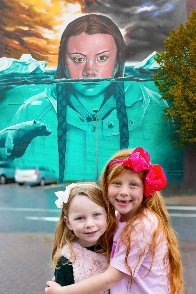 graffiti photoshoot bristol Greta Thunberg