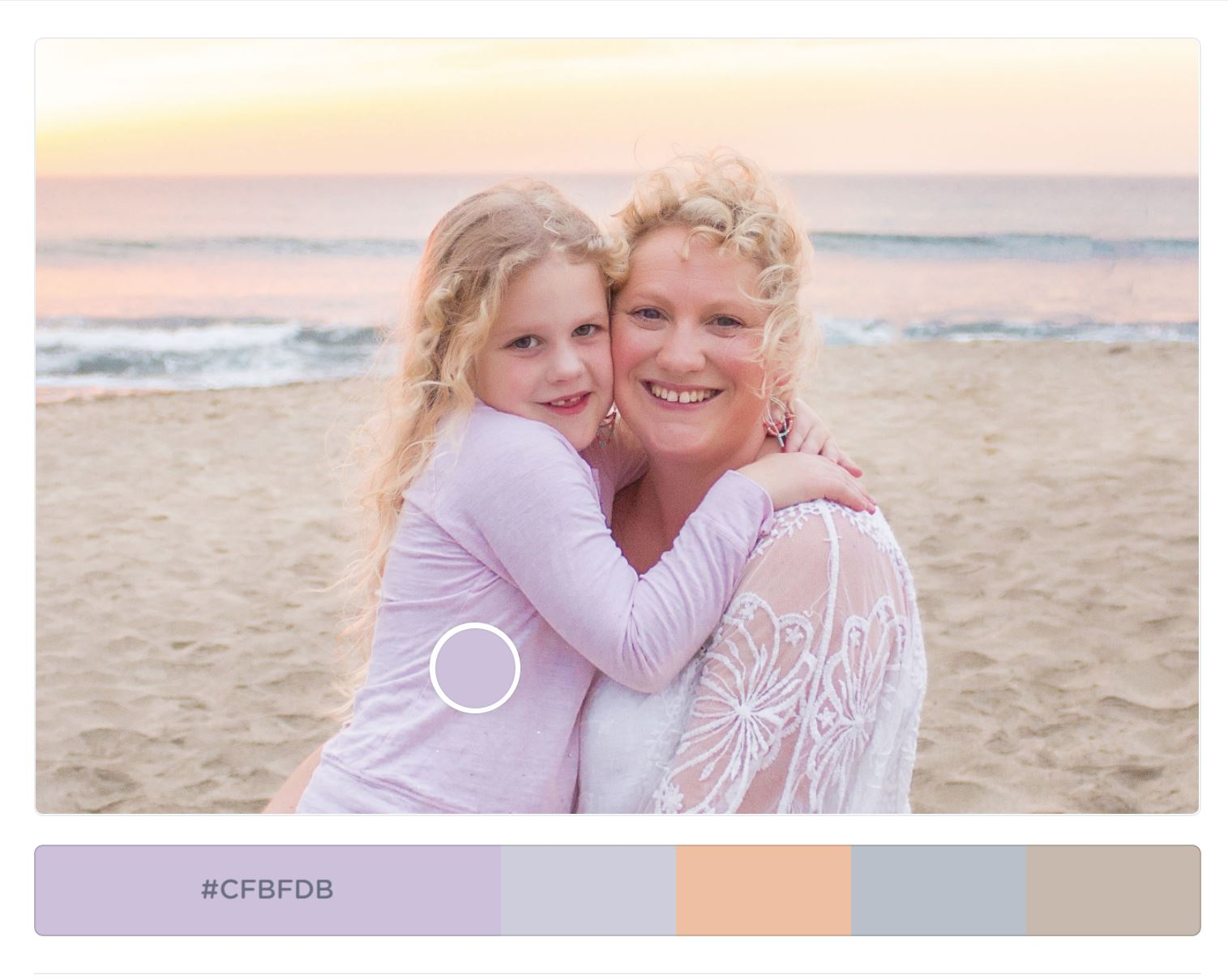 pastel colour scheme for beach photo shoot